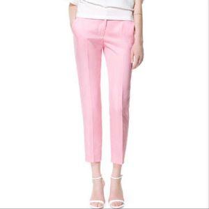Zara women trousers pink